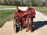 "16"" Roohide Cutting Saddle"