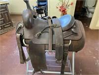 "16.5"" Custom Calvin Allen Cutting Saddle w/Buster Welch Tree"